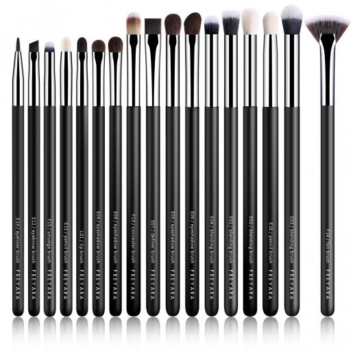 Eyeshadow Brushes 17pcs Set Classic Black