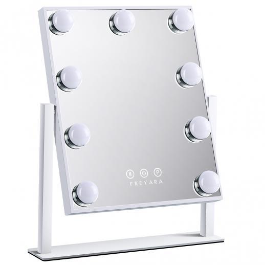 กระจกแต่งหน้าฮอลลีวูดพร้อมหลอด LED 9 หลอด